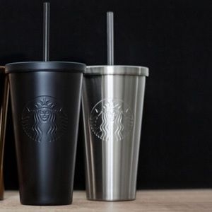 2 starbucks stainless steel cold cup matte black